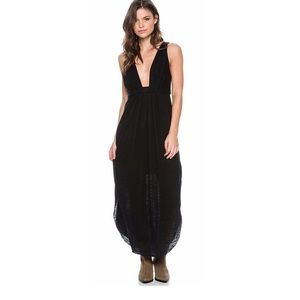 Free People HEIDI Linen Blend Maxi Dress LARGE